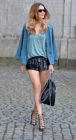 Sequin Shorts Image